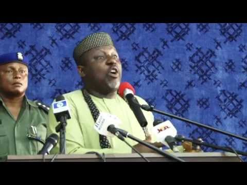 MANAGING CHANGE IN DEMOCRACY  BY GOVERNOR ROCHAS OKOROCHA'