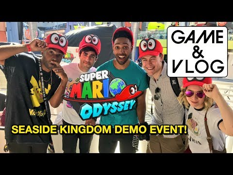 New Seaside Kingdom Gameplay from Nintendo's Super Mario Odyssey Universal CityWalk Demo Event!