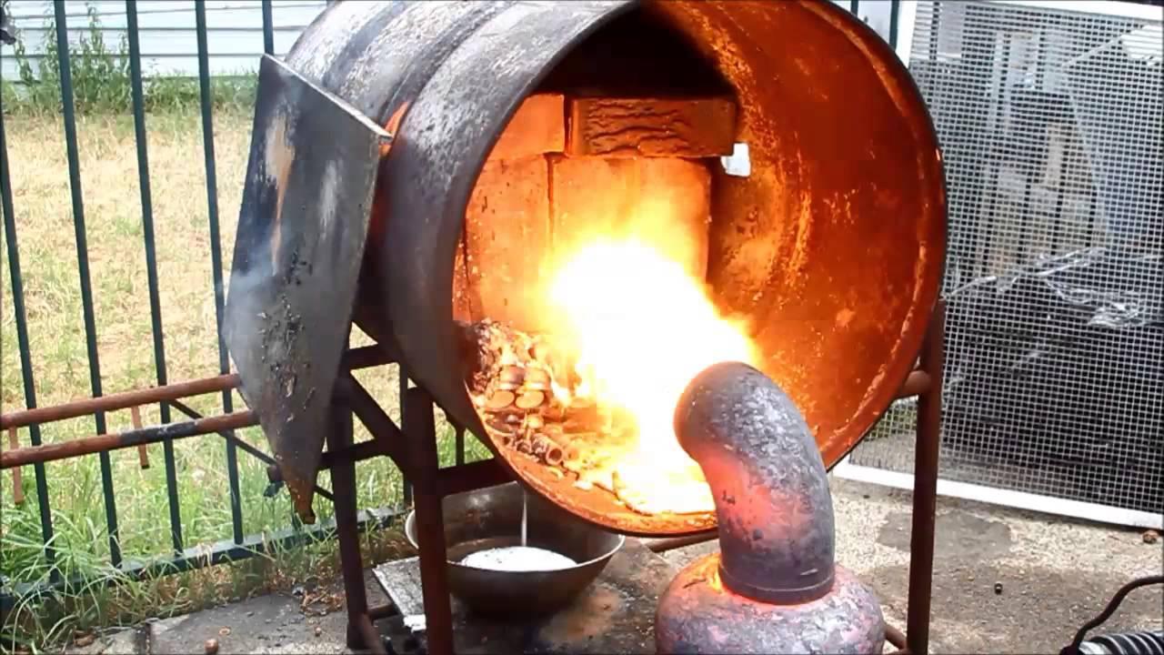 Aluminium Cylinder Head Melt In Waste Oil Burner Furnace