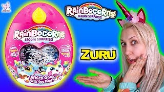Rainbocorns  WIELKIE JAJKO NIESPODZIANKA z jednorożcem  ZURU Opening Surprise