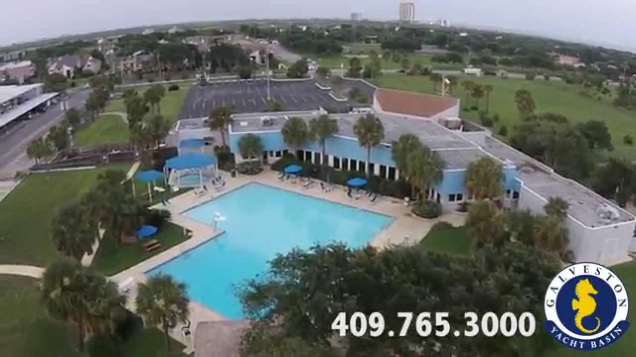 Galveston Yacht Basin Aerial Tour 2017