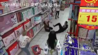 woman possessed by ghost caught on cctv camera