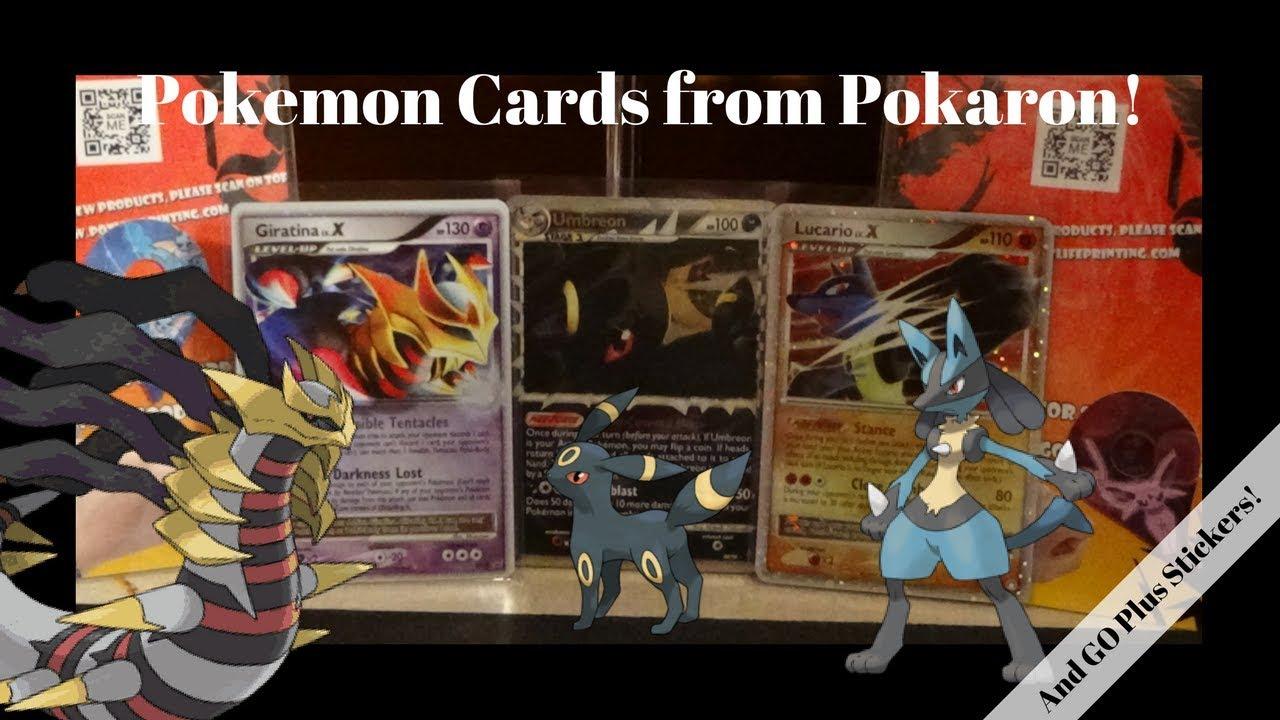 Pokemon Cards From Pokeron Pokemon Go Plus Stickers