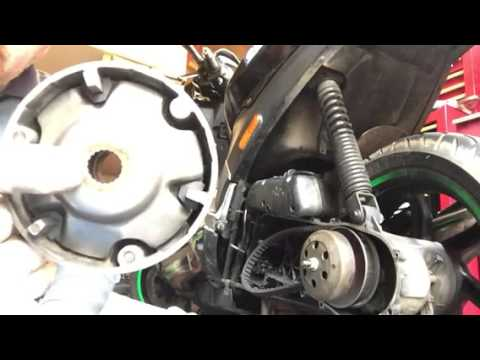 how to change roller weights on a scooter