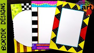 Britto 4 Border designs on paper border designs project work designs borders for projects