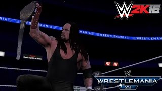 The Undertaker wins the World Championship vs Batista at Wrestlemania 23! (WWE 2K16 Recreation) -PS4