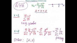 область сходимости степенного ряда
