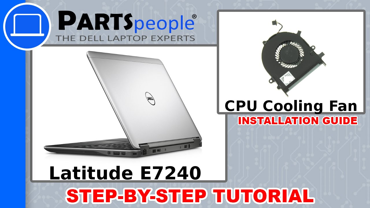 Dell Latitude E7240 CPU Cooling Fan How-To Video Tutorial