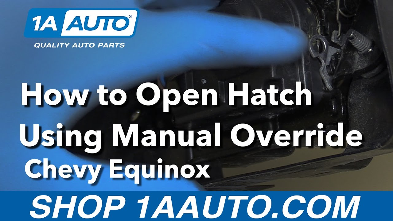 How To Open Hatch Using Manual Override When Your Battery Is Out Chevy Cruze O2 Sensor Wiring Diagram