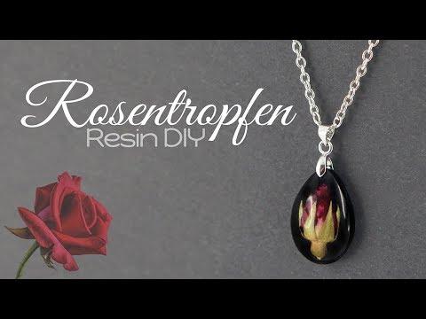 Echte Rosen Kette | Resin DIY | Gießharz Schmuck Anleitung | Blumen Halskette selber machen