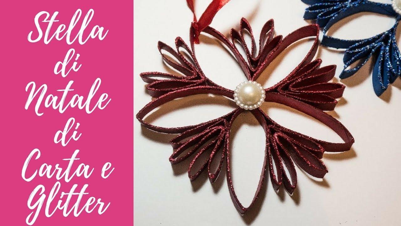 Super Tutorial: Stella di Natale di Carta e Glitter (ENG SUBS - DIY  SZ01