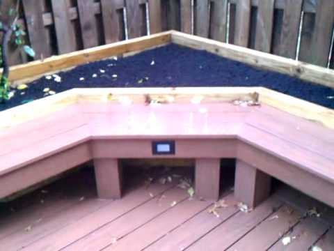 Ace Deck Amp Fence Llc Azek Ground Level Deck Benches Amp Planter Boxes 3gp Youtube