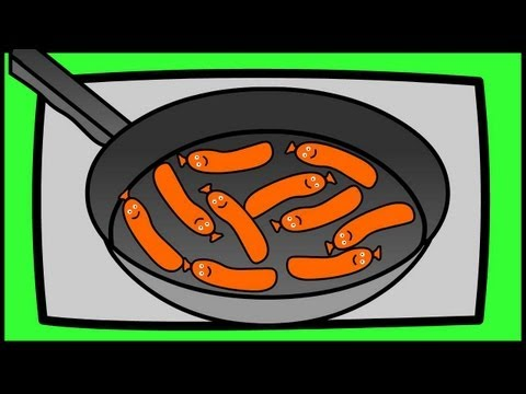 Ten Fat Sausages Sizzling in a Pan  Nursery Rhymes