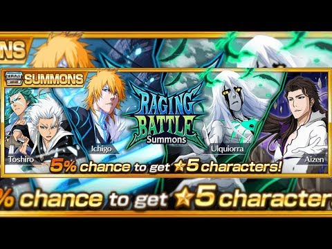 Bleach Brave Souls: Summons Raging Battle!!! 500 orbs HOJE ELE TA PODEROSO!!! - Omega Play