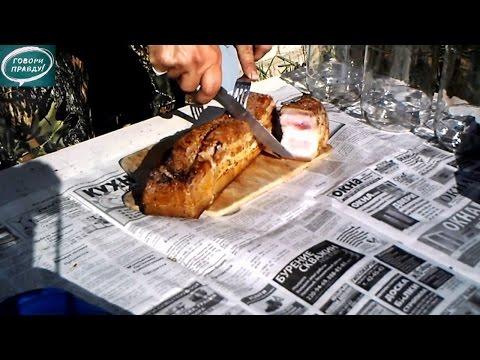 копчение мяса в коптильне горячего копчения рецепт видео