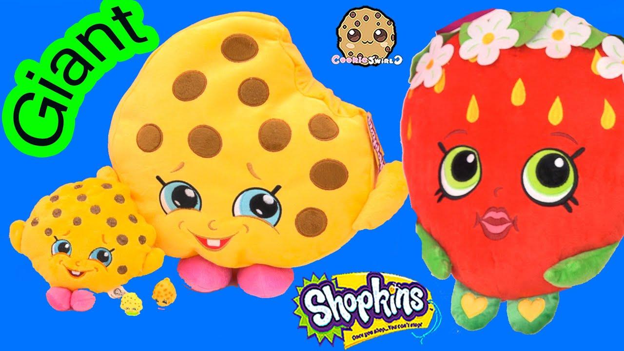 Shopkins Giant Season 1 Kooky Cookie Strawberry Kiss Plushy Pillow Toys