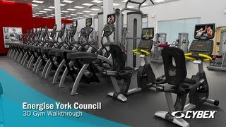 3D Gym Walkthrough - Energise York - Cybex