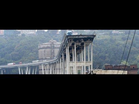 Genova crollo ponte morandi sulla a10 le immagini del for Ponte sopra i disegni del garage