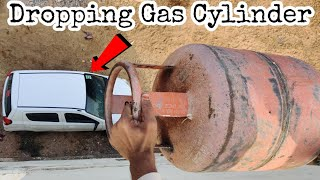 Dropping Gas Cylinder On Our Car || Gas Cylinder vs Car Experiment || Experiment King
