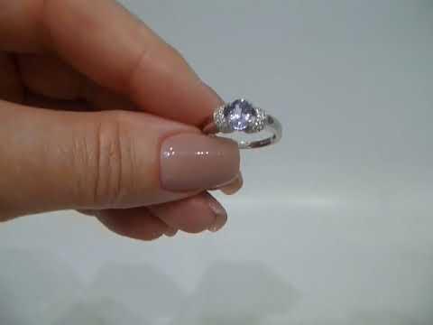 Кольцо с натуральным танзанитом 0.82 Ct Размер 16.5 Серебро 925
