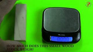 How much does this small wood block weigh?