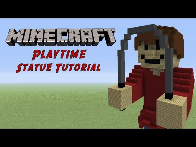 Minecraft Tutorial: Playtime (Baldis Basics) Statue