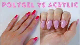 Polygel VS Acrylic Nails Done At Home!