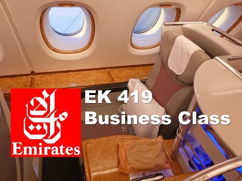Yes - It's another Emirates Business Class video!