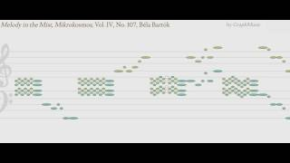 Melody in the Mist, Mikrokosmos, Vol. IV, No. 107, Béla Bartók