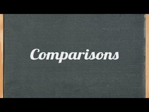 Comparisons (comparative and superlative) - English grammar tutorial video lesson