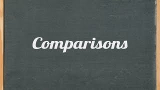 Comparisons (comparative and superlative) - English grammar tutorial video lesson