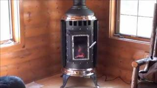 Country Fireplace - Corner Install Of Thelin Freestanding Gas Stove Minocqua Wi