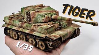 Tiger I tank 1/35 pro painting tutorial. part 1