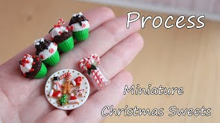 The process of making miniature Christmas sweets. Процесс изготовления Рождественских сладостей