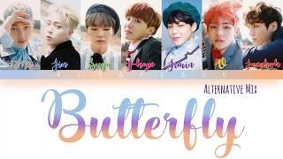 BTS (방탄소년단) - Butterfly (ALTERNATIVE MIX) Lyrics [Color Coded Han_Rom_Eng]