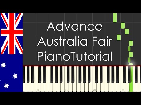 Advance Australia Fair Australia national anthem  Piano Tutorial