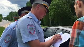 попытка проверки документов без оснований.тонировка.новый регламент 664.ДПС Дубна 23.05.2018