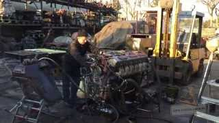 t 72 russian v12 diesel engine start after 10 years sound panzer farm