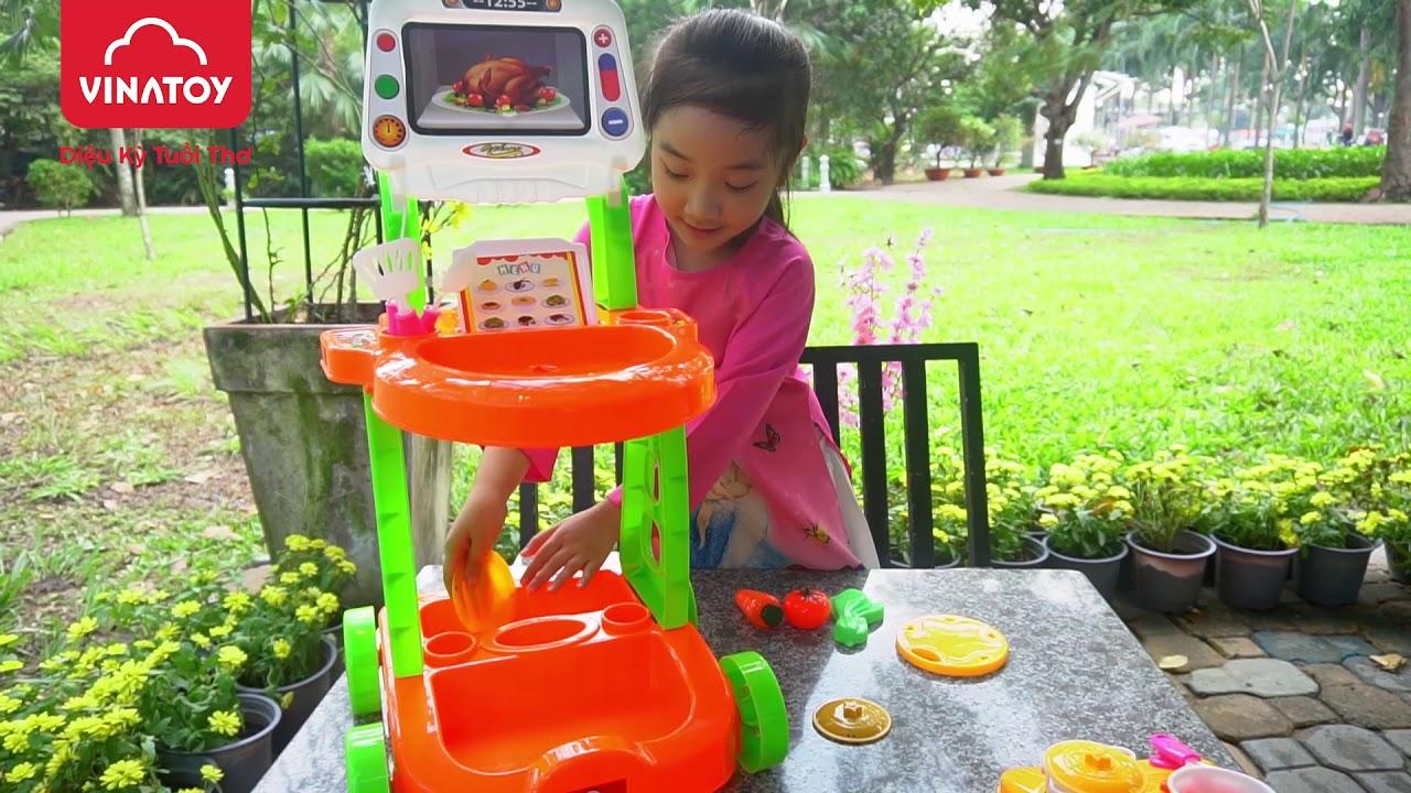 Đồ Chơi Trẻ Em: Đồ Chơi Xe Đẩy Lưu Động Chứa Dụng Cụ Nhà Bếp Vinatoy | Nhựa Chợ Lớn