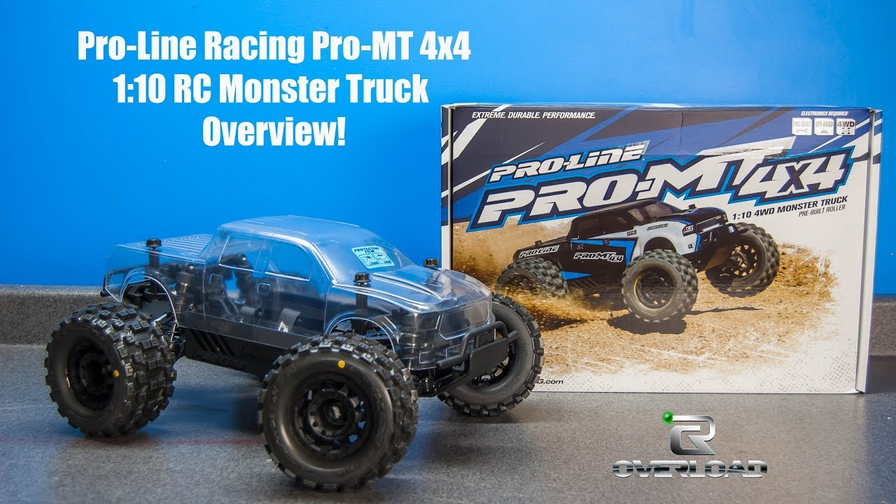 Monster Trucks For Sale >> Pro-line Racing Pro-MT 4x4 RC Monster Truck Unboxing ...