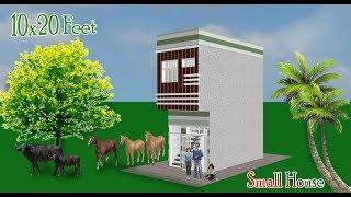 10x20 Feet small space house. कम खर्च व कम जगह में छोटा व अच्छा मकान कैसे बनाएं !