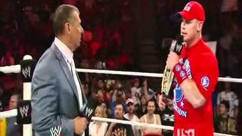 John Cena Confronts Vince McMahon