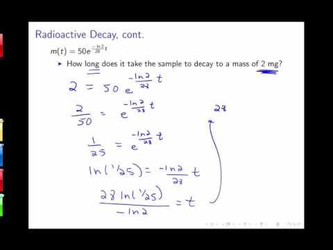 Section 3.8: Exponential Growth and Decay