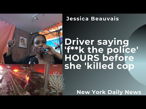 Drunk driver saying 'f**k the police' just HOURS before she 'killed cop