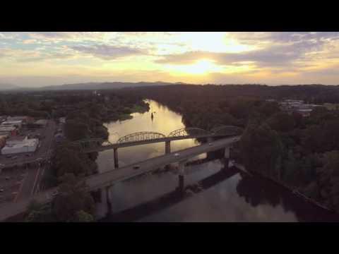Willamette River, Downtown Albany, Oregon