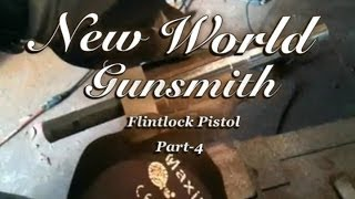 Building a flintlock pistol from scratch- Part 4 Filing octagonal flats onto a round barrel