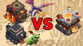 Clash Of Clans :: TH9 & TH10 DRAGON Strategies VS TH11 Bases (Ring & Anti 3)