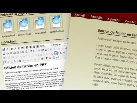 Tutoriel PHP - Edition de fichiers en PHP