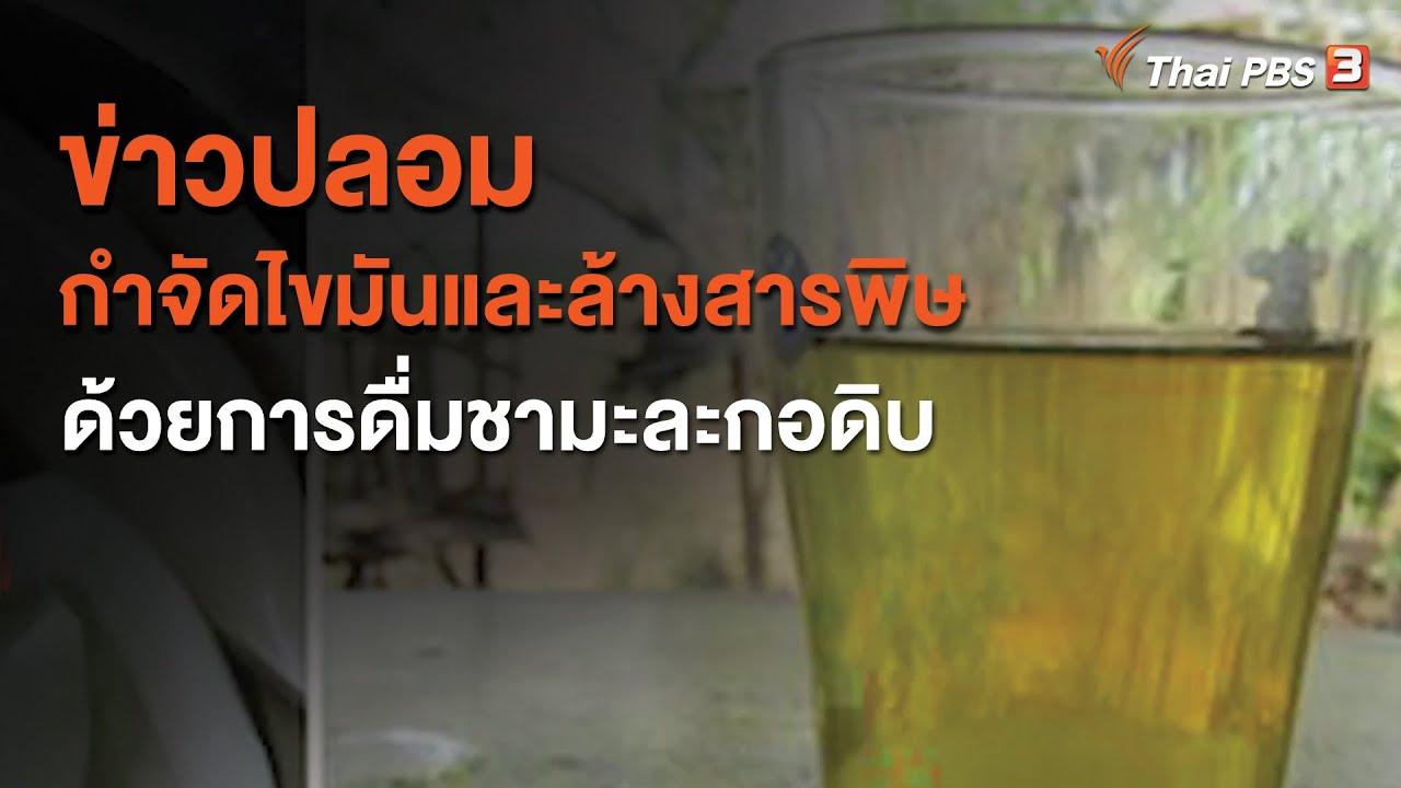 ข่าวปลอม กำจัดไขมันและล้างสารพิษ ด้วยการดื่มชามะละกอดิบ : จับตาข่าวเด่น (12 ต.ค. 63)