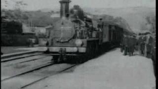 Прибытие поезда на вокзал Ла-Сьота (братьев Люмьер)
